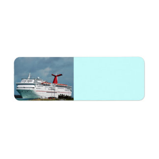 cruise ship return address label