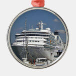 Cruise Ship Seabourn Odyssey Silver-Colored Round Ornament