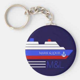 cruise ship travel personalized keychain