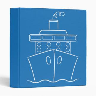 Cruise ship vinyl binders