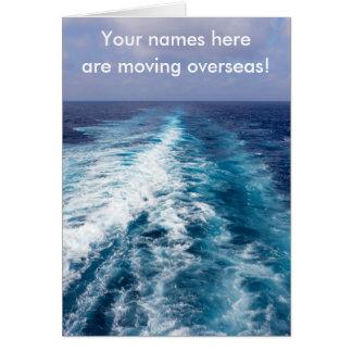Cruise ship wake card