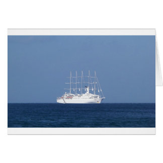 Cruise Ship With Sails Card