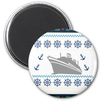 Cruise Ships 2 Inch Round Magnet