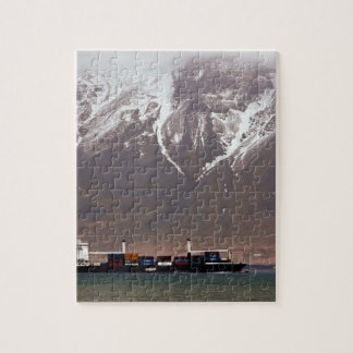 CRUISE SHIPS around SNOW MOUNTAINS America Jigsaw Puzzle