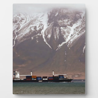 CRUISE SHIPS around SNOW MOUNTAINS America Plaque