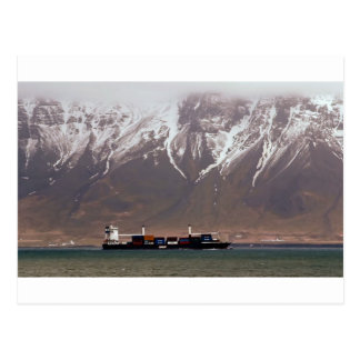 CRUISE SHIPS around SNOW MOUNTAINS America Postcard
