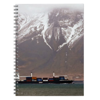 CRUISE SHIPS around SNOW MOUNTAINS America Spiral Notebook