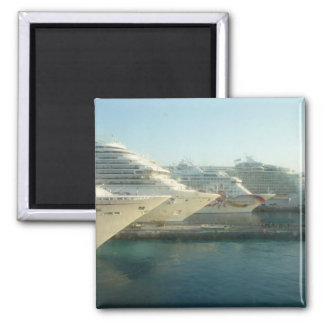 Cruise Ships at Sunrise Magnet