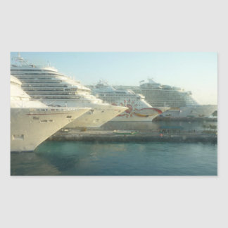 Cruise Ships at Sunrise Sticker