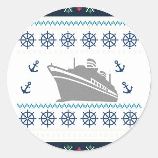 Cruise Ships Classic Round Sticker