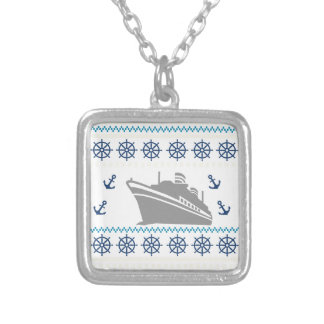 Cruise Ships Silver Plated Necklace