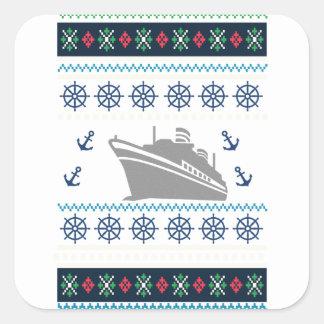 Cruise Ships Square Sticker