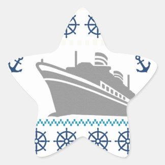 Cruise Ships Star Sticker