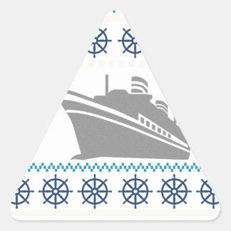 Cruise Ships Triangle Sticker