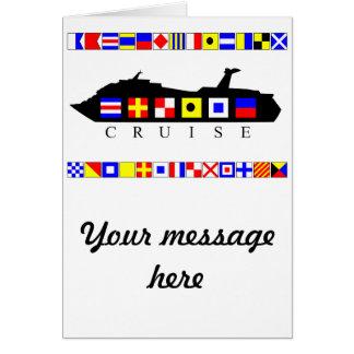 Cruise Signal Flags Card