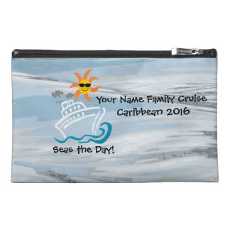 Cruise Travel Accessory Bag - Seas the Day!