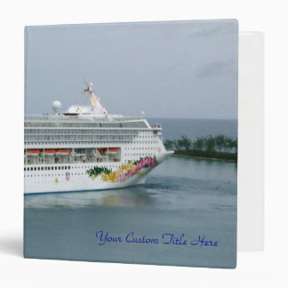 Cruise Vacation Memory Book 3 Ring Binders