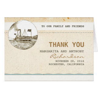 Cruise vintage wedding thank you cards