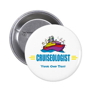 CRUISEOLOGIST - Funny Cruise Ship Travel Agency 2 Inch Round Button