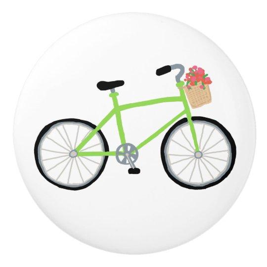 Cruiser Bicycle Drawer and Cabinet Knob Ceramic Knob