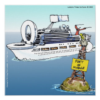 Cruises & Bathrooms Funny Poster