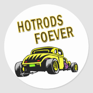 cruisin cars classic round sticker