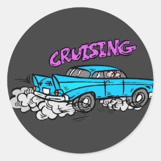 Cruisin Hot Rod Classic Round Sticker