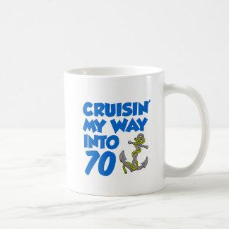 Cruisin' My Way Into 70 Mug