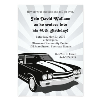 Cruisin Party Invitation