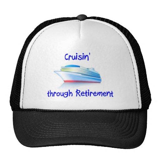 cruisin' through retirement mesh hats