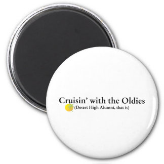 Cruisin' with the Oldies Fridge Magnets