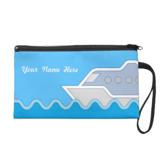 Cruising Along Personalized Name Wristlet
