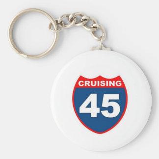 Cruising at 45 keychain