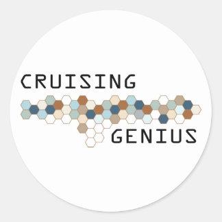 Cruising Genius Sticker