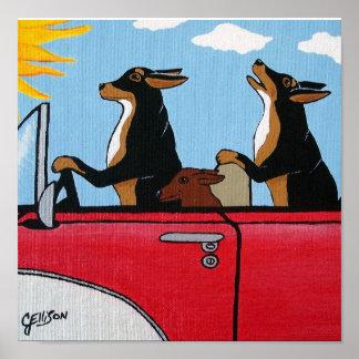 Cruising  Hound Dogs Canvas Print