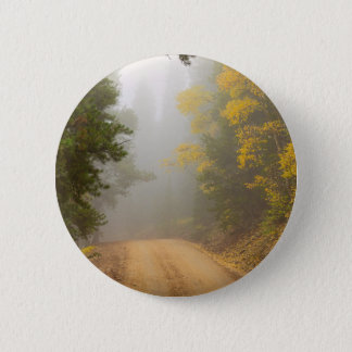 Cruising Into Autumn Fog 2 Inch Round Button