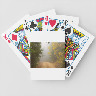Cruising Into Autumn Fog Bicycle Playing Cards