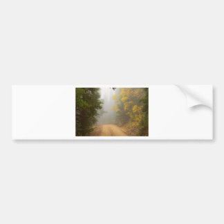 Cruising Into Autumn Fog Bumper Sticker