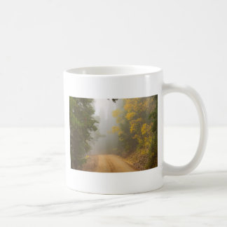 Cruising Into Autumn Fog Coffee Mug