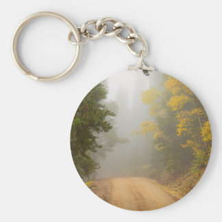 Cruising Into Autumn Fog Keychain