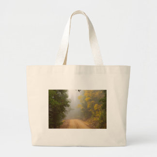 Cruising Into Autumn Fog Large Tote Bag