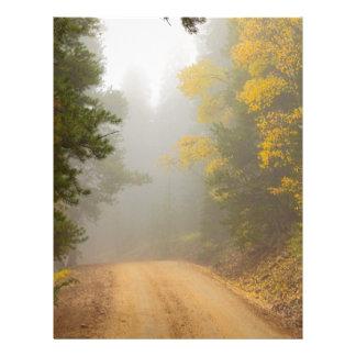 Cruising Into Autumn Fog Letterhead