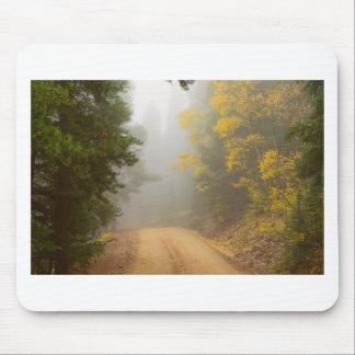 Cruising Into Autumn Fog Mouse Pad