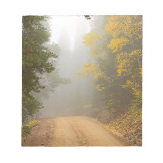 Cruising Into Autumn Fog Notepad