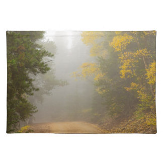Cruising Into Autumn Fog Placemat