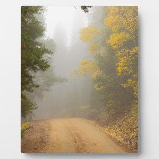 Cruising Into Autumn Fog Plaque