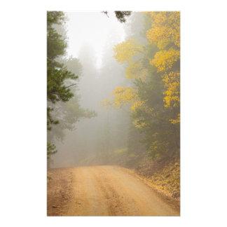 Cruising Into Autumn Fog Stationery