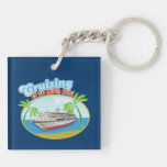 Cruising Is So Much Fun Double-Sided Key Chain