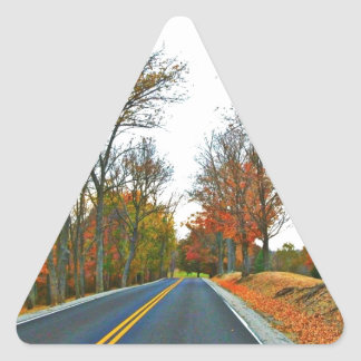 Cruising On An Autumn Afternoon Triangle Sticker