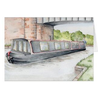 """Cruising on the Cut"" Narrowboat Greetings Card"